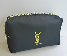 YSL Black Makeup Cosmetics Bag with gold trim, Brand NEW! 100% Genuine!!