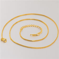 Classic 18K Yellow Gold Filled Womens Box Chain Necklace,18 Inch