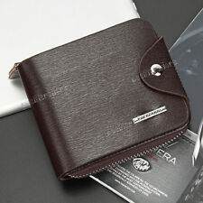 New Men's Bifold Leather ID Credit Card Holder Clutch Billfold Purse Wallet