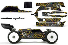 AMR Racing Losi 8IGHT-E 3.0 RC Graphic Kit Decal Wrap 1/8 Buggy Body WIDOW YELLW
