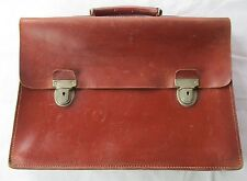 VINTAGE 1950s ANTLER BY J.B BROOKS  BROWN LEATHER BRIEFCASE /MUSIC CASE ENGLAND