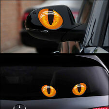 1 Pair Funny 3D Eye Sticker Auto Car Rear View Mirror Window Reflective Decor