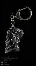 Fresian Horse, silver covered keyring, high qauality keychain Art Dog