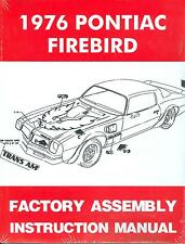 1976  FIREBIRD/ 400/TRANS AM  ASSEMBLY MANUAL-NEW