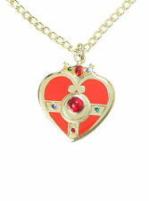NEW SAILOR MOON RED & GOLD TONED COSMIC HEART Pendant Necklace Costume Jewelry