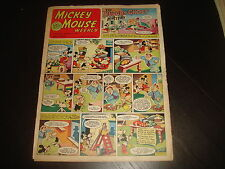 MICKEY MOUSE WEEKLY October 12th 1953  UK Disney Comic Lower Grade