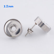 Mini Snap It Stainless Steel  Earrings Fit Mini Snap It Button Charms