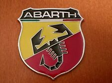 1pc ABARTH (FIAT) 3D metal grill fender hood emblem logo insignia decal