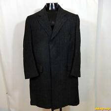 BROOKS Brothers 346 Vtg Long Wool Tweed Coat Overcoat Mens Size Size M Brown