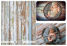 3x5ft Vinyl Photography Background Retro Wooden Wall Baby Backdrops Studio Props
