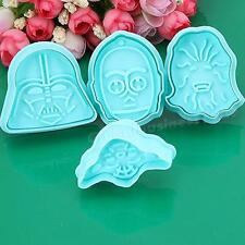 4PC Star Wars Cake Fondant Plunger Cutter Mould Biscuit Cookie Decorating Tools