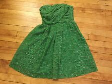 'Broadway & Broome' Madewell Green Polka Dot Strapless Dress, Size 6, NWT! $225