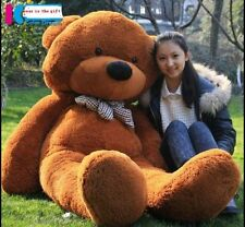 GIANT 63'' BIG PLUSH dark brown TEDDY BEAR HUGE STUFFED SOFT TOy BIRTHDAY GIFTS