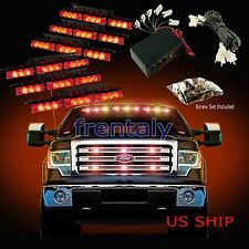 54 LED Car Truck Strobe Emergency Warning Light for Deck Dash Grill Red & Red