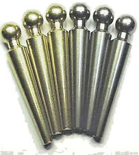 """6-Jumble Ball-Top Cribbage Pegs For 1/4"""" Holes Solid Metals!, USA, Velvet Pouch"""