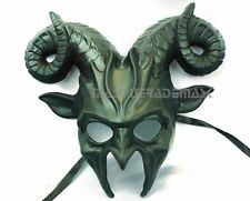 Goat Masquerade Ball Mask Horns Halloween Animal Costume Haunted House Party