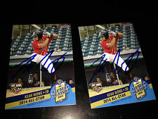 2 Kean Wong 2014 Midwest League All Star auto signed cards Bowling Green RAYS