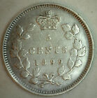 1899 Canadian Silver 5 Cents Coin Five Cent Victoria Canada Type Coin Very Fine