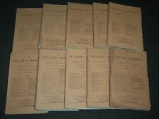 1874 THE ATLANTIC MONTHLY MAGAZINE LOT 10 ISSUES - STORIES & ARTICLES - WR 26
