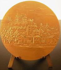 Médaille vue de Puy-l'Évêque depuis le Lot Bkason 1980 72 mm medal