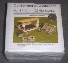 Out Building w/Accessories - 25mm Medieval Series - 6110 JR Miniatures  NEW  OOP