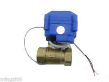 "motorized ball valve G3/4"" DN20(reduce port), 2 way 12VDC CR04, electrical valve"
