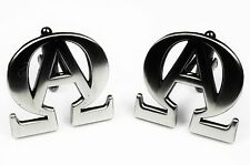 ALPHA OMEGA Jesus God Christian Bible Harley Biker Cufflinks Cuff Links Set
