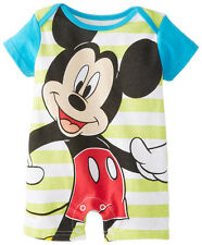 New Baby Boys Girls Mickey Romper Cotton Summer Jumpsuit Climbing Clothes 12-18M