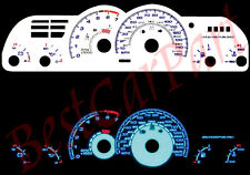 BLUE 93-96 Chevy Camaro 150mph WHITE FACE REVERSE INDIGLO GLOW GAUGES