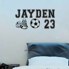 Personalized Custom Name Number Soccer Boy Girl Room Wall Stickers Decals Vinyl