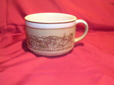 California Oversized Mug Tan and White with California Scenes