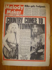 MELODY MAKER 1977 APR 9 EMMYLOU DOLLY PARTON FEELGOOD