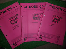 CITROEN C3 OEM FACTORY WORKSHOP MANUAL brakes abs axles suspension 2001