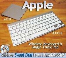 Apple Wireless Bluetooth Keyboard A1314 and Magic Track Pad A1339 Bundle - NICE!
