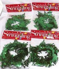 Garland Green Christmas Tree Metallic Wire Set of 4 New in Package 36 ft total
