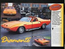 1969 Dodge Diamante Hemi Challenger - 3-Page Original Article - Free Shipping