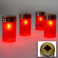 2 x LED Grave Candle Grave light candle Grave lantern Solar New