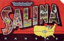 1948 SALINA KANSAS Where North and South Meet East and West - keys to views