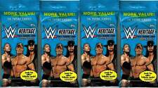 (4) 2015 Topps WWE HERITAGE 30th Wrestling Trading Cards 16 ct. JUMBO Pack LOT