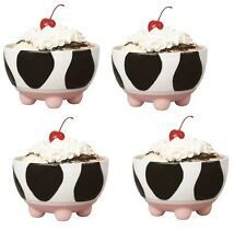 Boston Warehouse Udderly Cows Ice Cream Bowls  Set of 4