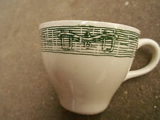 Vintage Royal China USA Coffee Cup  Green Ox Bow & Plow Design