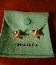 Tiffany & Co Elsa Peretti Starfish Earrings, Sterling Silver, Large, Genuine