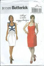 B 5599 sewing pattern Halter DRESS Suzi CHIN maggy boutique sew Flirty 6,8,10,12