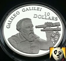 1994 NAURU $10 TEN DOLLARS GALILEO GALILEI SPACE EXPLORATION SILVER PROOF COIN