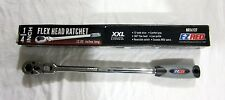 "E-Z Red New 1/4"" Drive 12"" Extra Long 1/4"" Drive Flex Head 72 Tooth Ratchet"