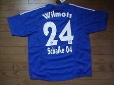 Schalke 04 #24 Wilmots 100% Original Jersey Shirt L 2002/03 Home BNWT Belgium
