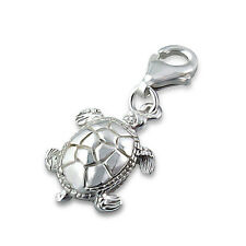 925 Sterling Silver Charm - Turtle Lobster Clasp - Free Gift Box