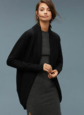 Aritzia Wilfred Diderot Cocoon Sweater Black Cardigan Wrap L $95 WITH DAMAGE