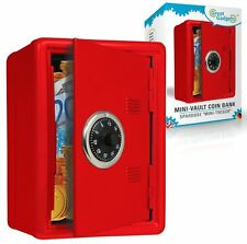 Metal MINI SAFE COIN BANK Combination Lock Vault + Saving Money Box RED