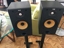 2 - B&W DM602 S2 Main / Stereo Speakers including two Black Steel Stands